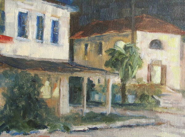 Apalachicola Print featuring the painting Post Office Apalachicola by Susan Richardson