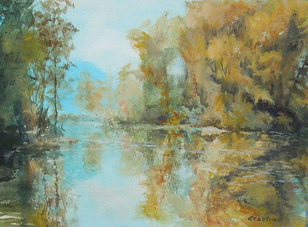 Reflecting On Reflections Print featuring the painting Reflecting On Reflections by Elizabeth Crabtree