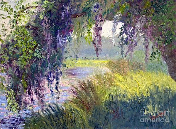 Low Country Print featuring the painting River Through The Moss by Patricia Huff