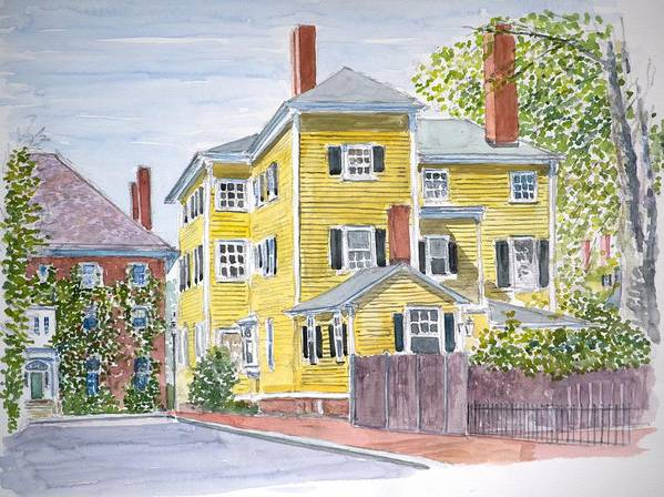 Salem Mass Print featuring the painting Salem by Anthony Butera