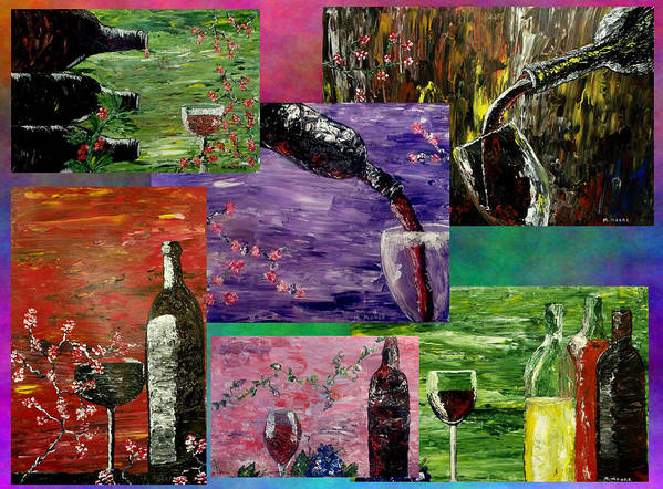Popular Print featuring the painting Sensual Wine by Mark Moore