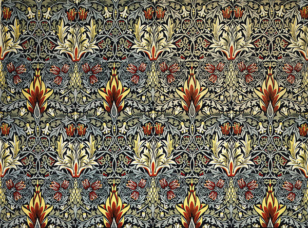 William Print featuring the tapestry - textile Snakeshead by William Morris
