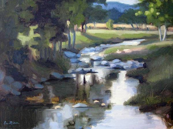 Creek Print featuring the painting Stony Creek by Erin Rickelton