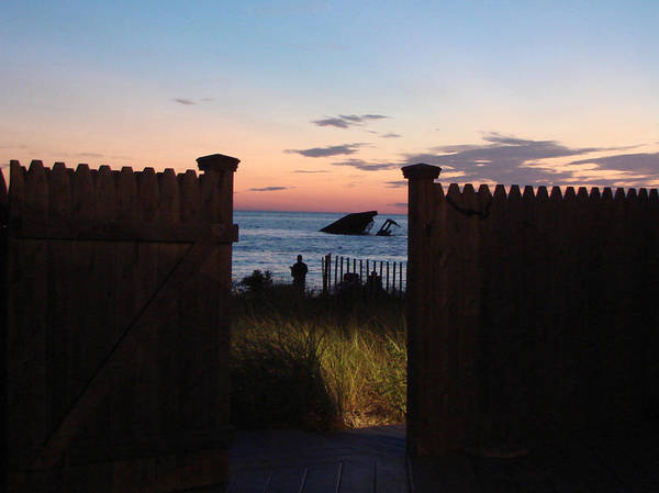 View Print featuring the photograph Through The Gate by Brenda Conrad