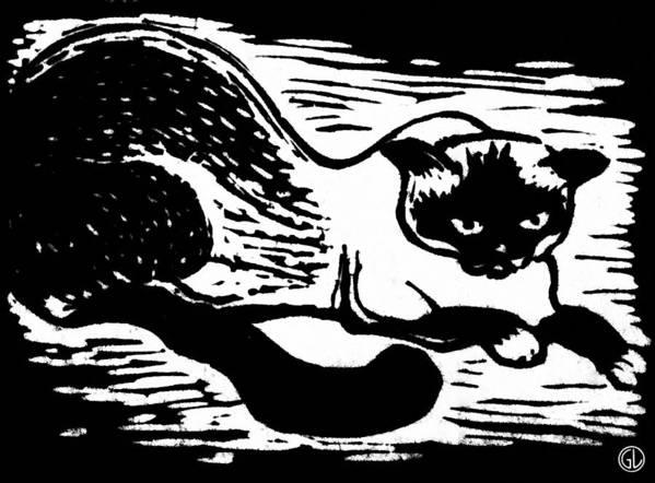 Animal Print featuring the drawing Tiger by Gun Legler