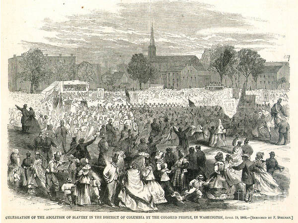 1866 Print featuring the photograph Washington: Abolition, 1866 by Granger