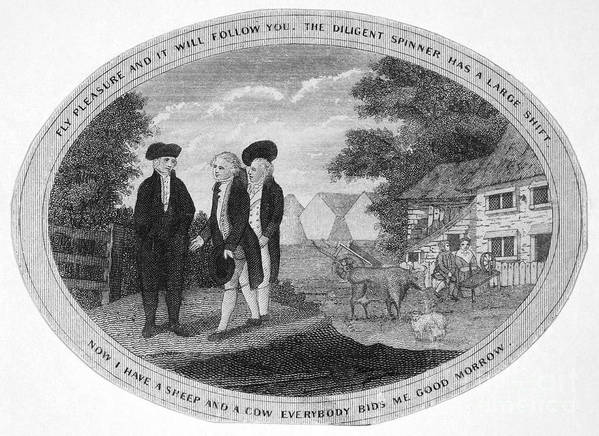 1800 Print featuring the photograph Poor Richard Illustrated by Granger