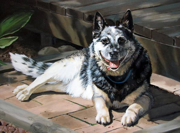 Dog Print featuring the painting A Man's Best Friend by Sandra Chase