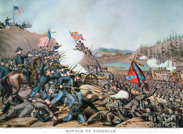 1864 Print featuring the photograph Battle Of Franklin, 1864 by Granger