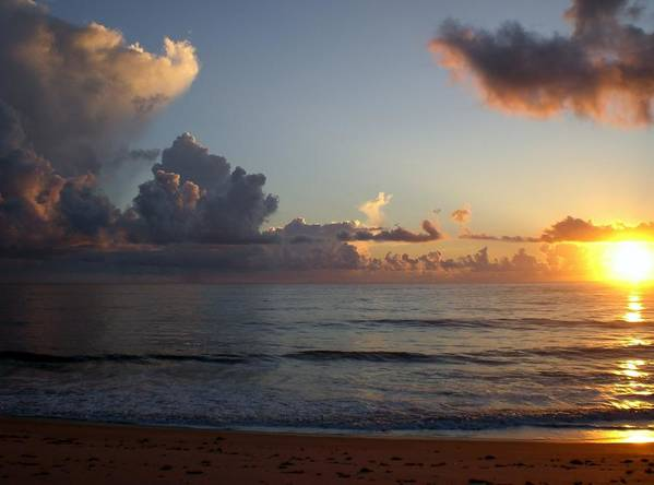 Early Sunrise Print featuring the photograph Cloud Menagerie by Vincent Di Pasquo