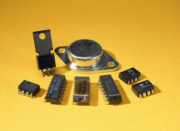 Component Print featuring the photograph Electronic Circuit Board Components by Andrew Lambert Photography