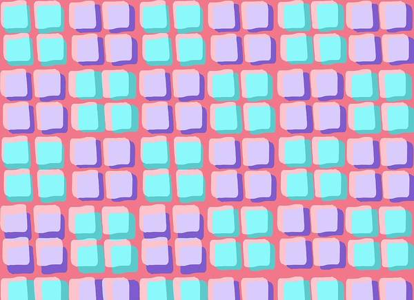 Louisa Print featuring the digital art Lots Of Squares by Louisa Knight