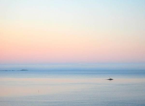 Sea Print featuring the photograph Sea Fog by Sonya Kanelstrand