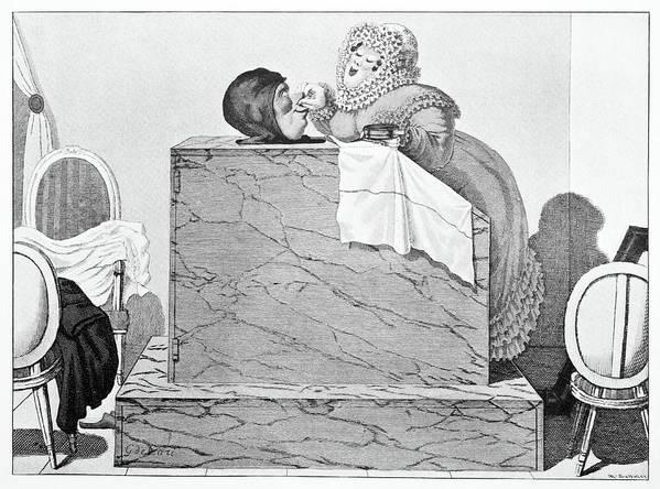 Human Print featuring the photograph Steam Bath, Satirical Artwork by