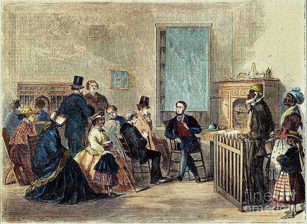 1867 Print featuring the photograph Va: Freedmens Bureau 1867 by Granger