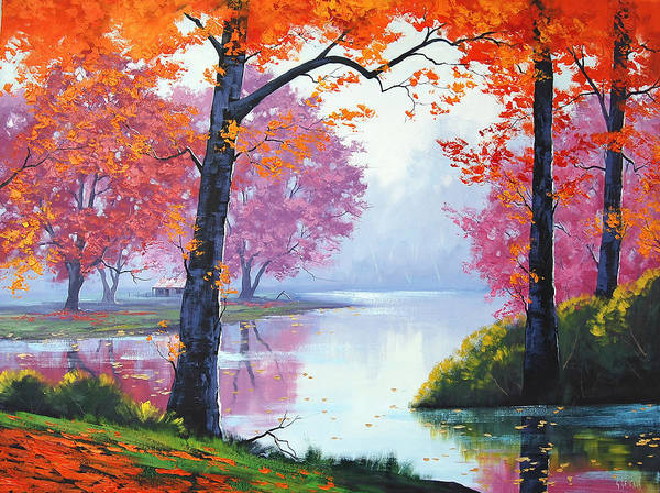 Fall Print featuring the painting Vibrant Colours by Graham Gercken
