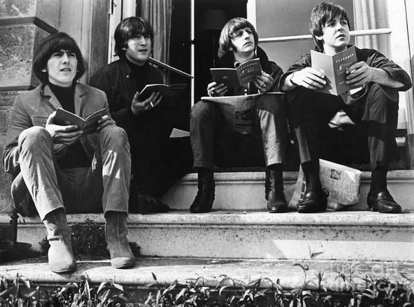 1965 Print featuring the photograph The Beatles, 1965 by Granger
