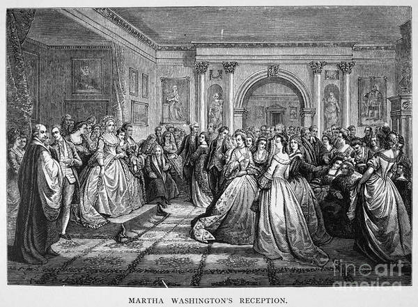18th Century Print featuring the photograph Washington Reception by Granger