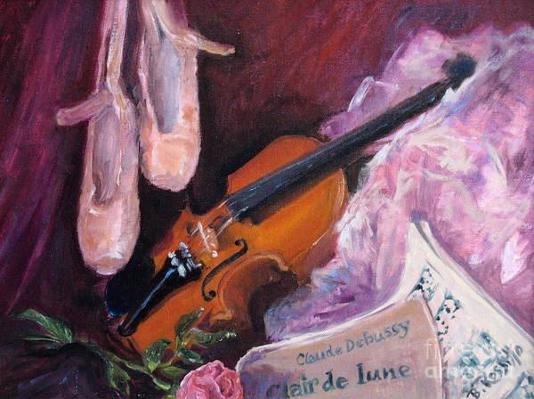 Clair De Lune Print featuring the painting Clair De Lune by B Rossitto