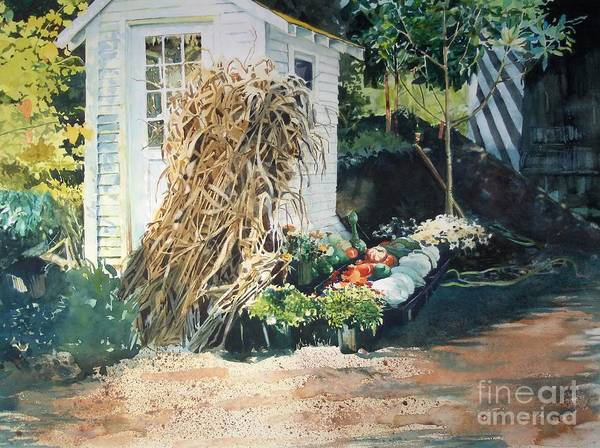 Garden Print featuring the painting Fall At Ivy Corners by Elizabeth Carr