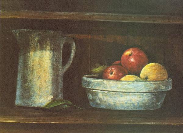 Fruit Print featuring the painting Fruit Bowl by Charles Roy Smith
