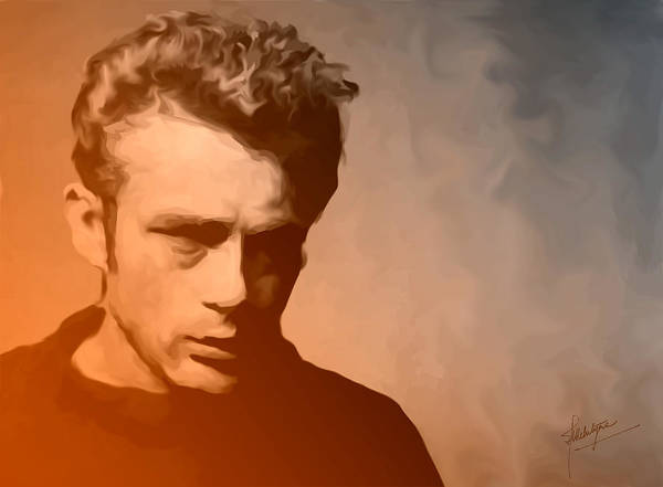 Actor Print featuring the painting James Dean by Debbie McIntyre
