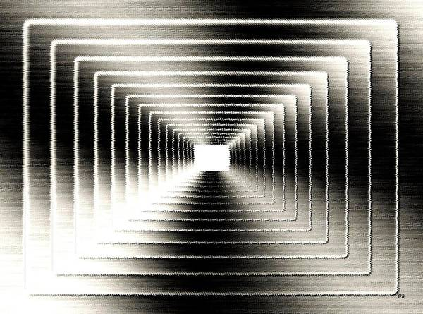 Abstract Print featuring the digital art Luminous Energy 3 by Will Borden