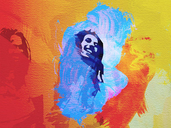 Reggae Kings Print featuring the painting Reggae Kings by Naxart Studio