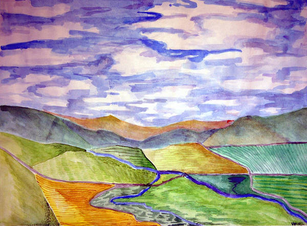 River Print featuring the painting Rural by Jame Hayes