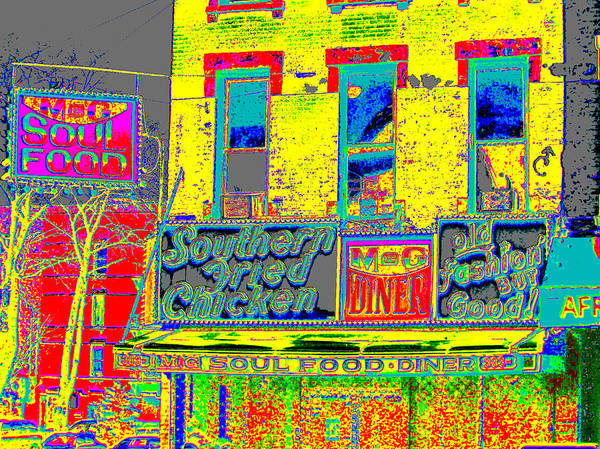 Harlem Print featuring the photograph Soul Food by Steven Huszar