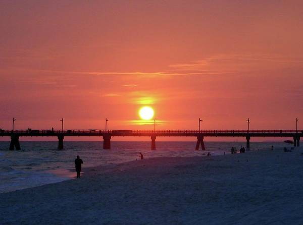 Florida Print featuring the photograph Watching The Sunset by Sandy Keeton