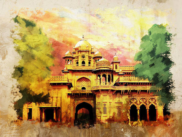 Pakistan Print featuring the painting Aitchison College by Catf