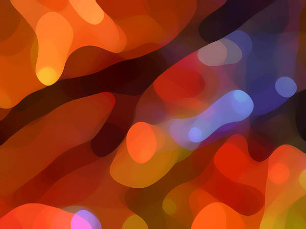 Abstract Art Print featuring the painting Abstract Fall Light by Amy Vangsgard