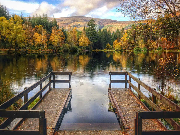 Autumn Print featuring the photograph Autumn In Glencoe Lochan by Dave Bowman