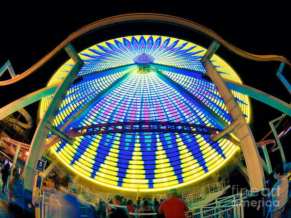 Big Wheel Print featuring the photograph Big Wheel Keep On Turning by Mark Miller