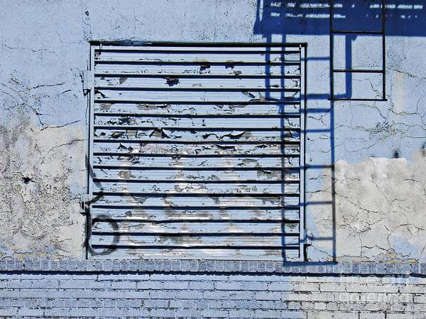 Wall Print featuring the photograph Blue Wall by Sarah Loft