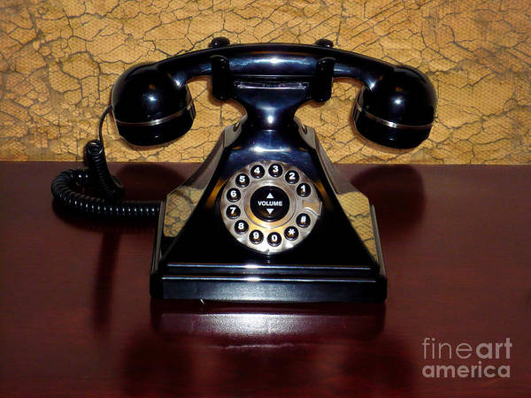 Classic Telephone Print featuring the photograph Classic Rotary Dial Telephone by Mariola Bitner