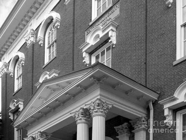 Colonels Print featuring the photograph Eastern Kentucky University Crabbe Library Detail by University Icons