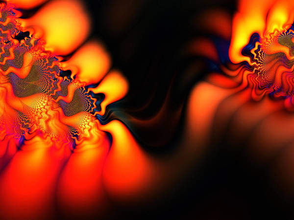 Abstract Print featuring the digital art Electric Wave by Ian Mitchell