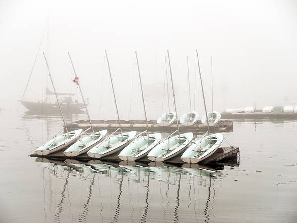 Boat Print featuring the photograph Fogged In by Bob Orsillo