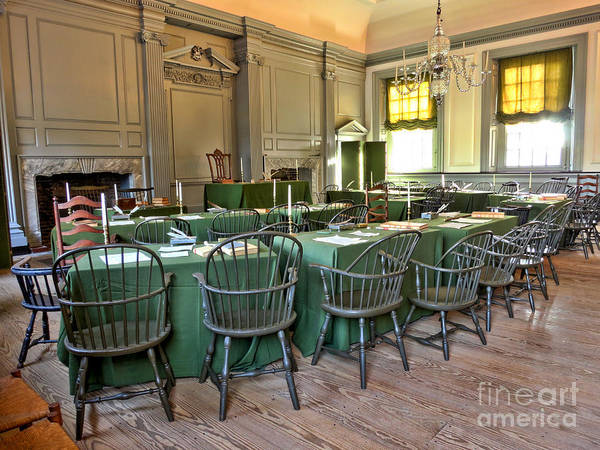 1776 Print featuring the photograph Independence Hall by Olivier Le Queinec