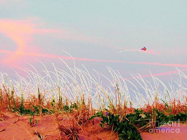 Dunes Print featuring the photograph Memorial Day By The Sea by Susan Carella