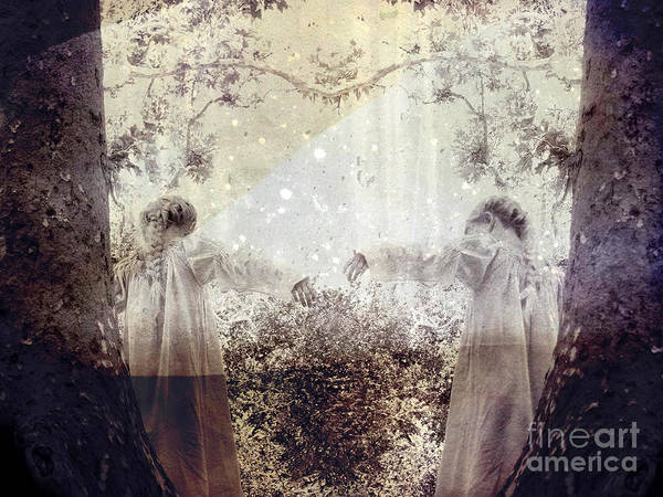 Fantasy Print featuring the photograph Never Grow Up by Ellen Cotton