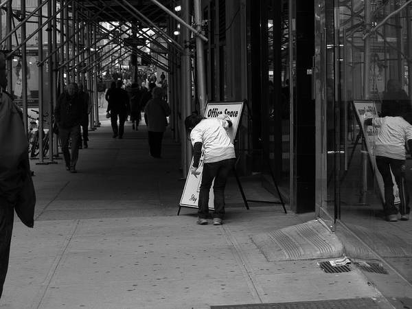 Architecture Print featuring the photograph New York Street Photography 26 by Frank Romeo