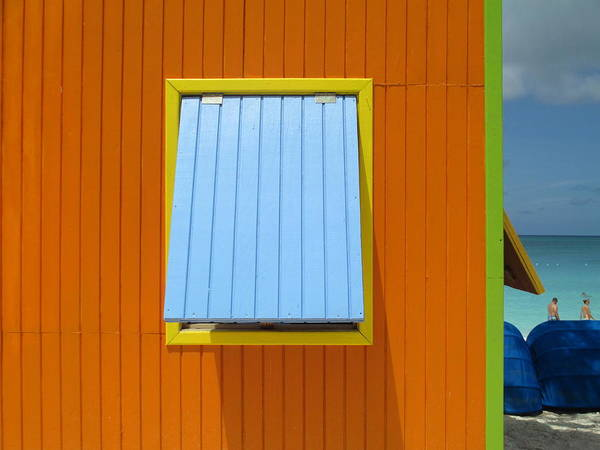 Caribbean Corner Print featuring the photograph Orange Cabin by Randall Weidner