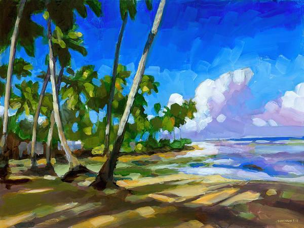 Beach Print featuring the painting Playa Bonita by Douglas Simonson