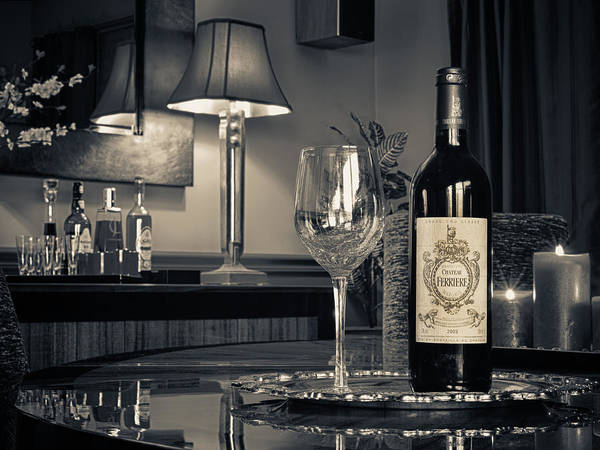 Wine Print featuring the photograph Service For One by Dennis James