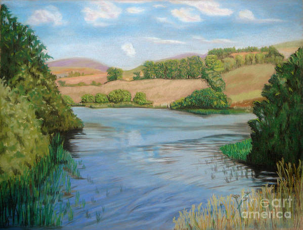 Summer Solitude Print featuring the painting Summer Solitude by Yvonne Johnstone