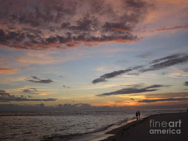 Sunset Print featuring the photograph Sunset Stroll by Elizabeth Carr