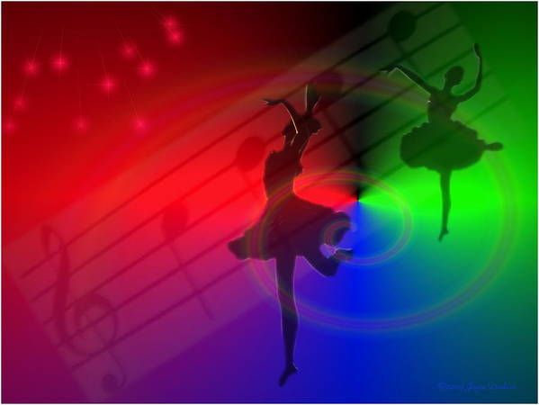 Ballerina Print featuring the photograph The Dance by Joyce Dickens